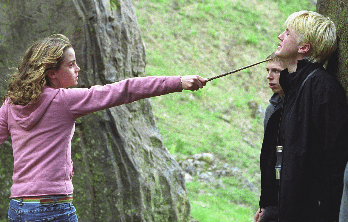 GENERAL PSA THAT THE MALFOYS SHOULD BE IN AZKABAN; ALSO GENERAL PSA THAT HERMIONE DOES NOT LOOK DRESSED FOR THE OCCASION OF RUNNING AROUND THE SCHOOL GROUNDS AND SAVING SIRIUS BLACK'S LIFE.