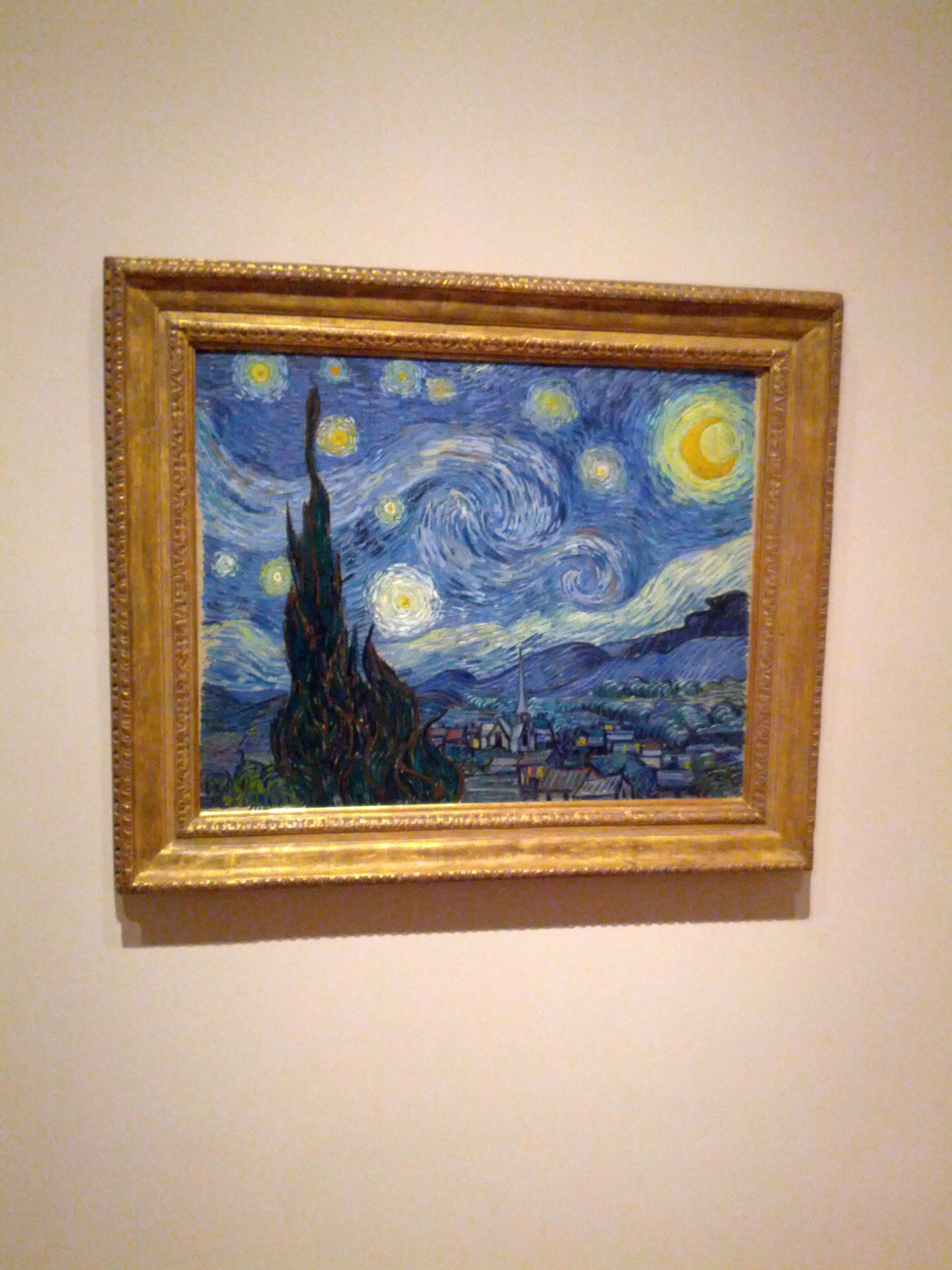 """The Starry Night"" Vincent van Gogh. One of the pieces that had a large crowd around it at the MoMA in NYC."