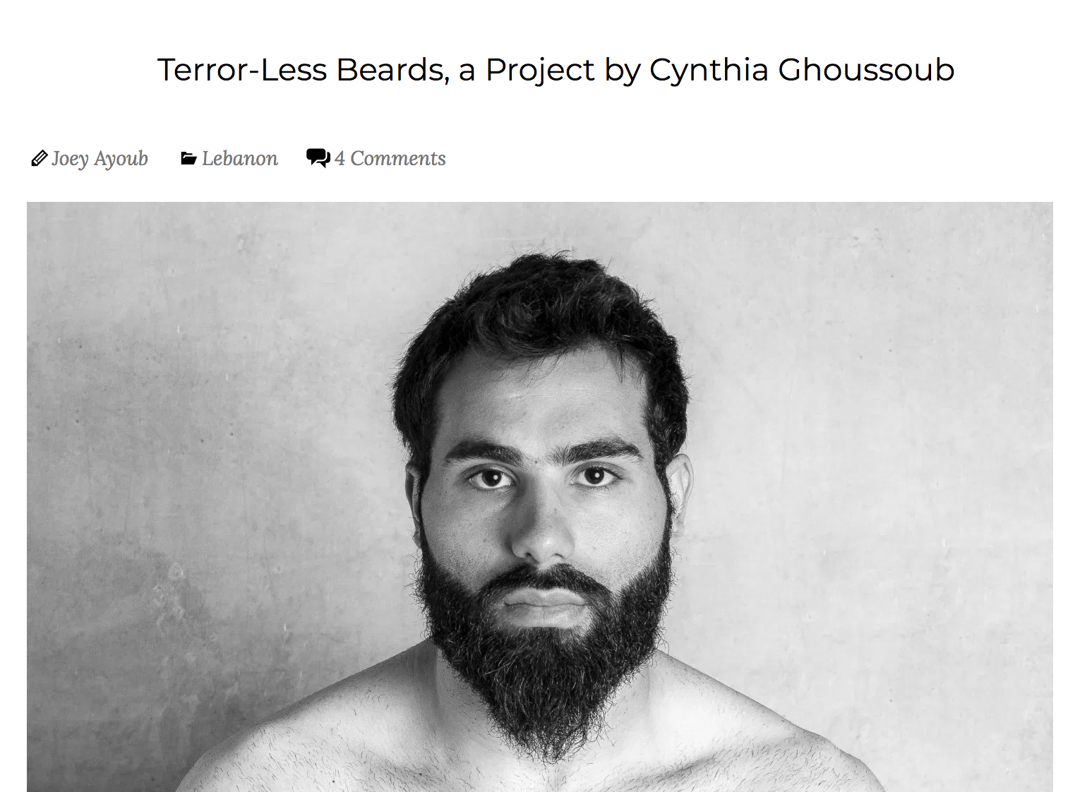 May 2015   Terror-less Beards - Hummus for Thought