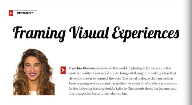 OCT 2015   Framing Visual Experiences - ArabAd Magazine