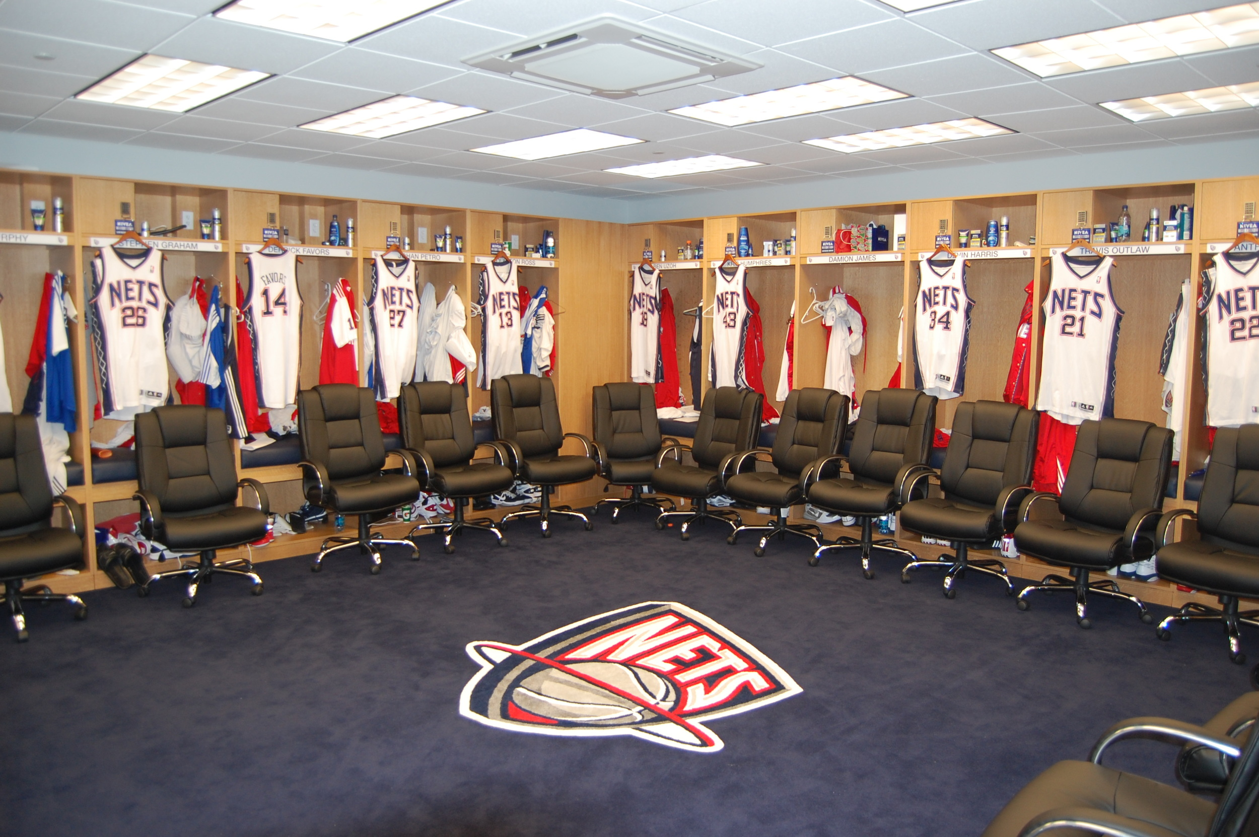New Jersey Nets Locker Room