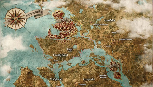 This is just a small portion of the Witcher 3's explorable areas.