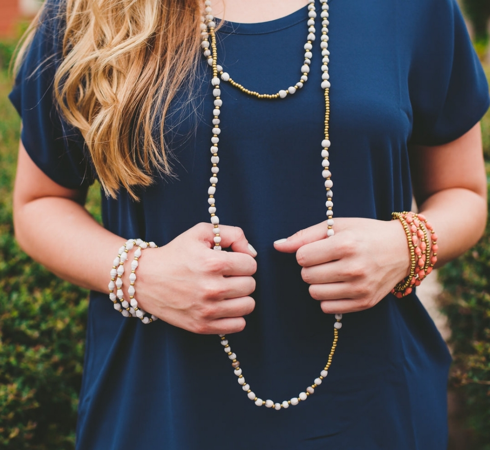Radiance Necklace, $56 - Made with Costa Rican Seeds, this necklace can be wrapped around 2-3 times to create the perfect length for your daily look!