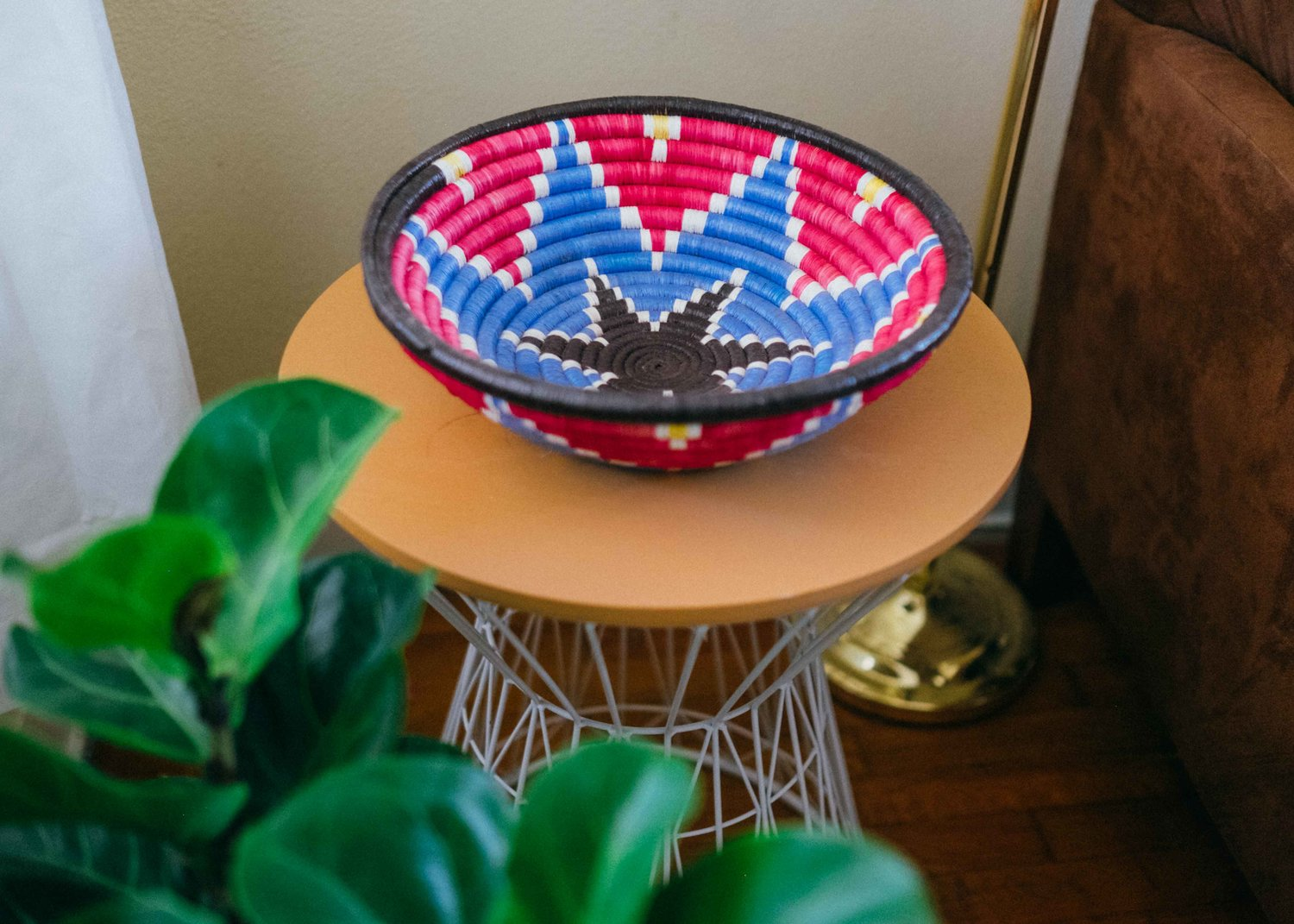 Dancilla Basket, $55 - With its happy, vibrant colors, the Dancilla basket is definitely a personal favorite. Each hand-made basket is unique and will brighten up any room it's in!