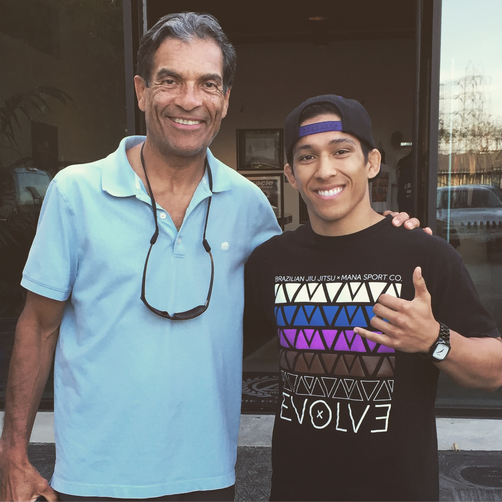 Rorion Gracie and yours truly after the long trip to Victorville