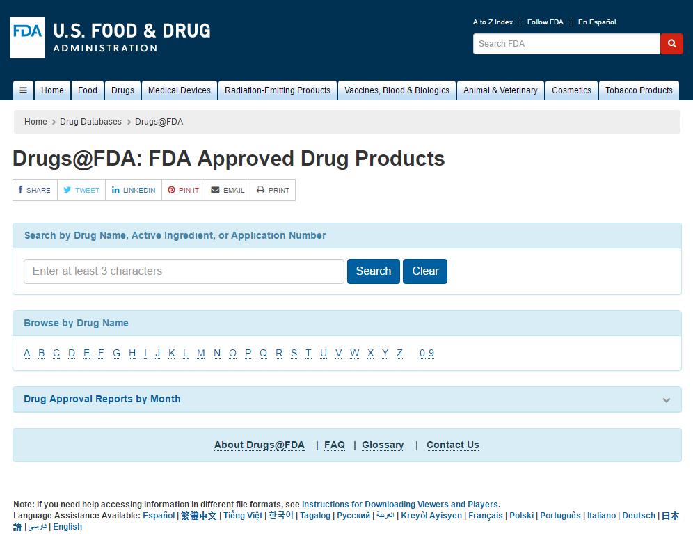 Drugs @ FDA