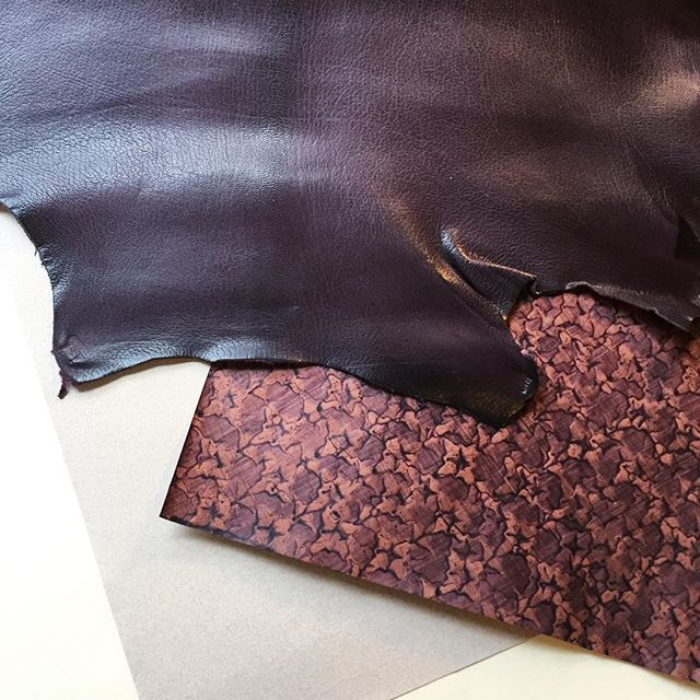 Choosing materials for the next project. Lots of aubergine for a modern take on a historical design... #paper #leather #purple #bookbinding #finebinding #beginnings #craftsmanship #books #meetingbyaccident #art #reliure