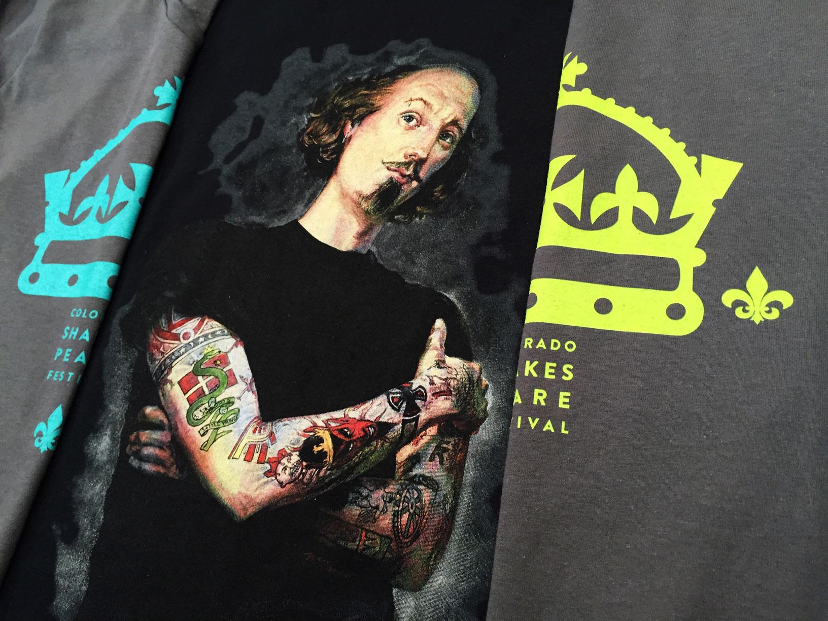 Custom Design & Screen Printing for Colorado Shakespeare Festival
