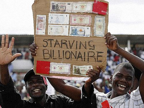 Hiperinflación en Zimbabue...cuando el dinero vale nada.