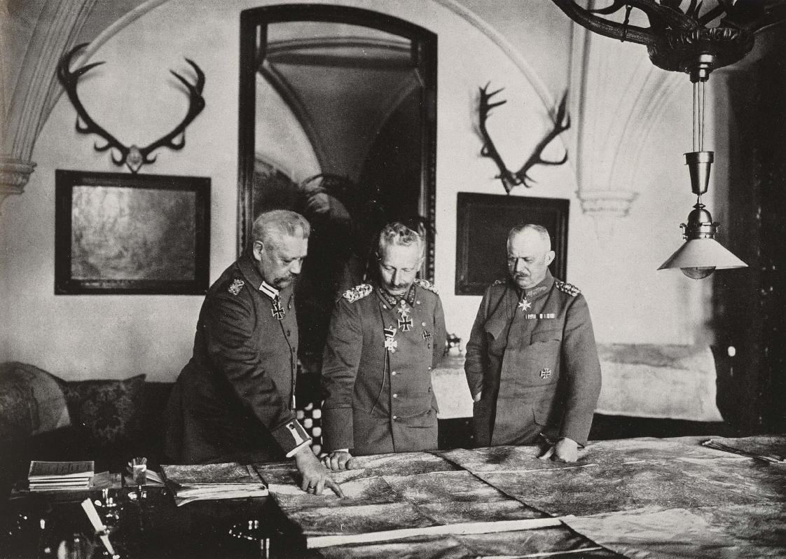 Hindenburg, el Káiser Guillermo II y Ludendorff