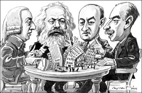 Adam Smith, Marx, Joseph Schumpeter y John Maynard Keynes