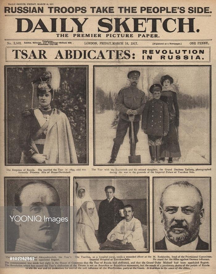 Noticias sobre la abdicación de Nicolás II