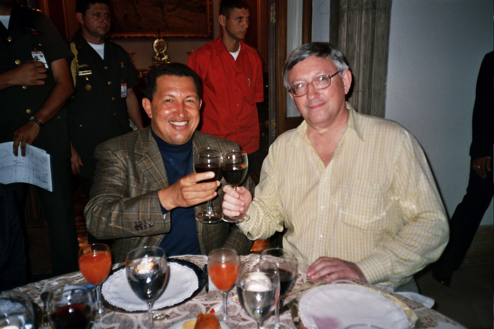 Hugo Chávez y Alan Woods