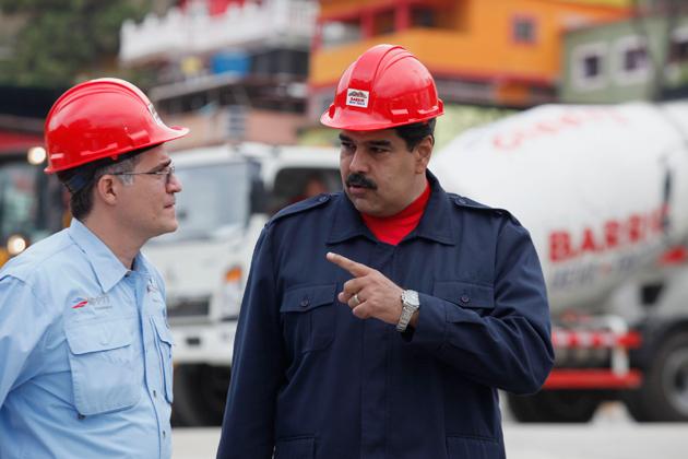 Haiman El Troudi y Nicolás Maduro