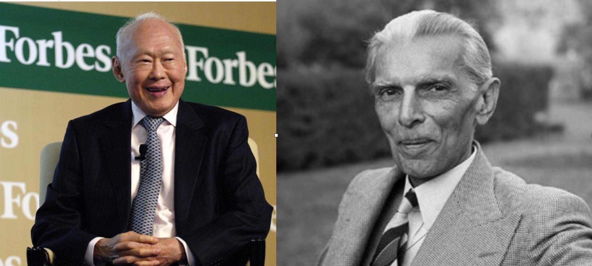 Dos forjadores de naciones: Lee Kwan Yew (Singapur, 1923-2015) y Muhammad Alí                                 Jinnah (Pakistán, 1876-1948)