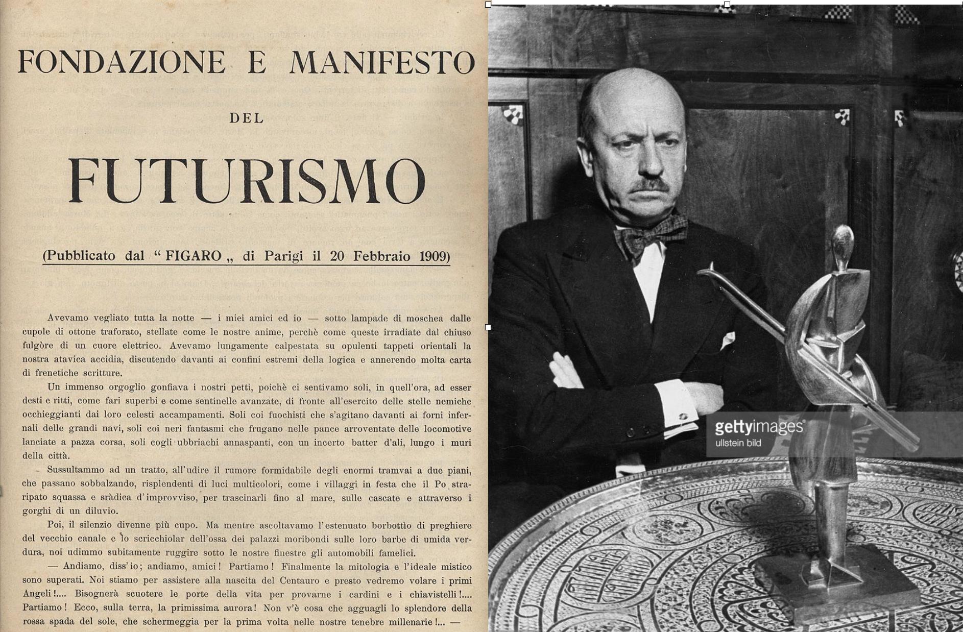 Filippo Marinetti, artista, editor y poeta guerrero, uno de los favoritos de Benito Mussolini