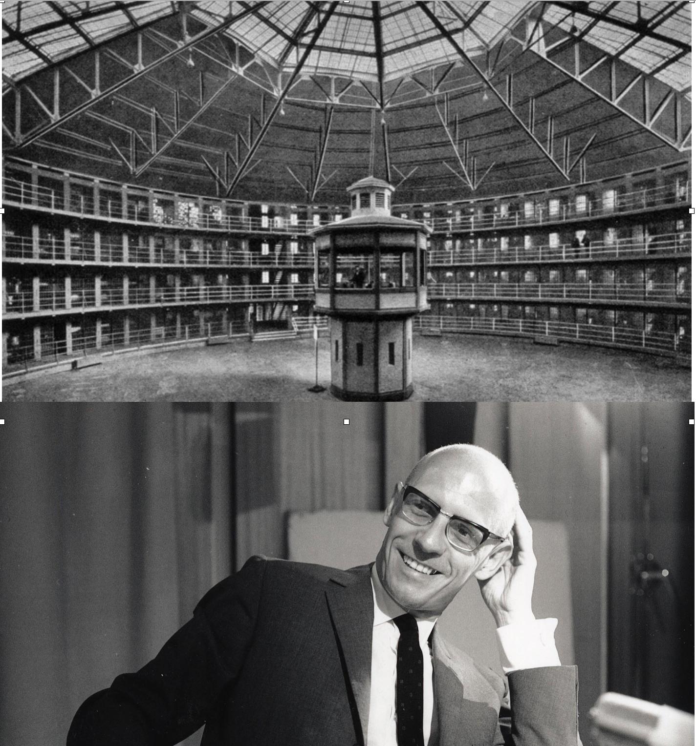 """En el capítulo 7 de su libro """"Vigilar y Castigar"""", Michel Foucault describió el mecanismo de vigilancia, control y modificación de la conducta: el panóptico (concebido por Jeremy Bentham)"""