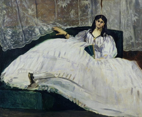 Édouard Manet.  Maîtresse de Baudelaire (La amante de Baudelaire)