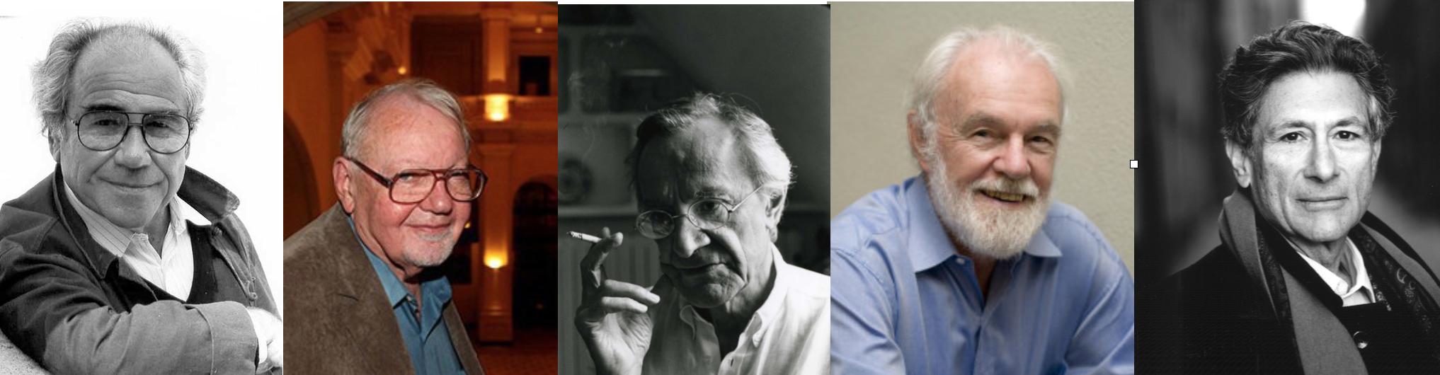 Baudrillard, James, Lyotard, Harvey y Said.