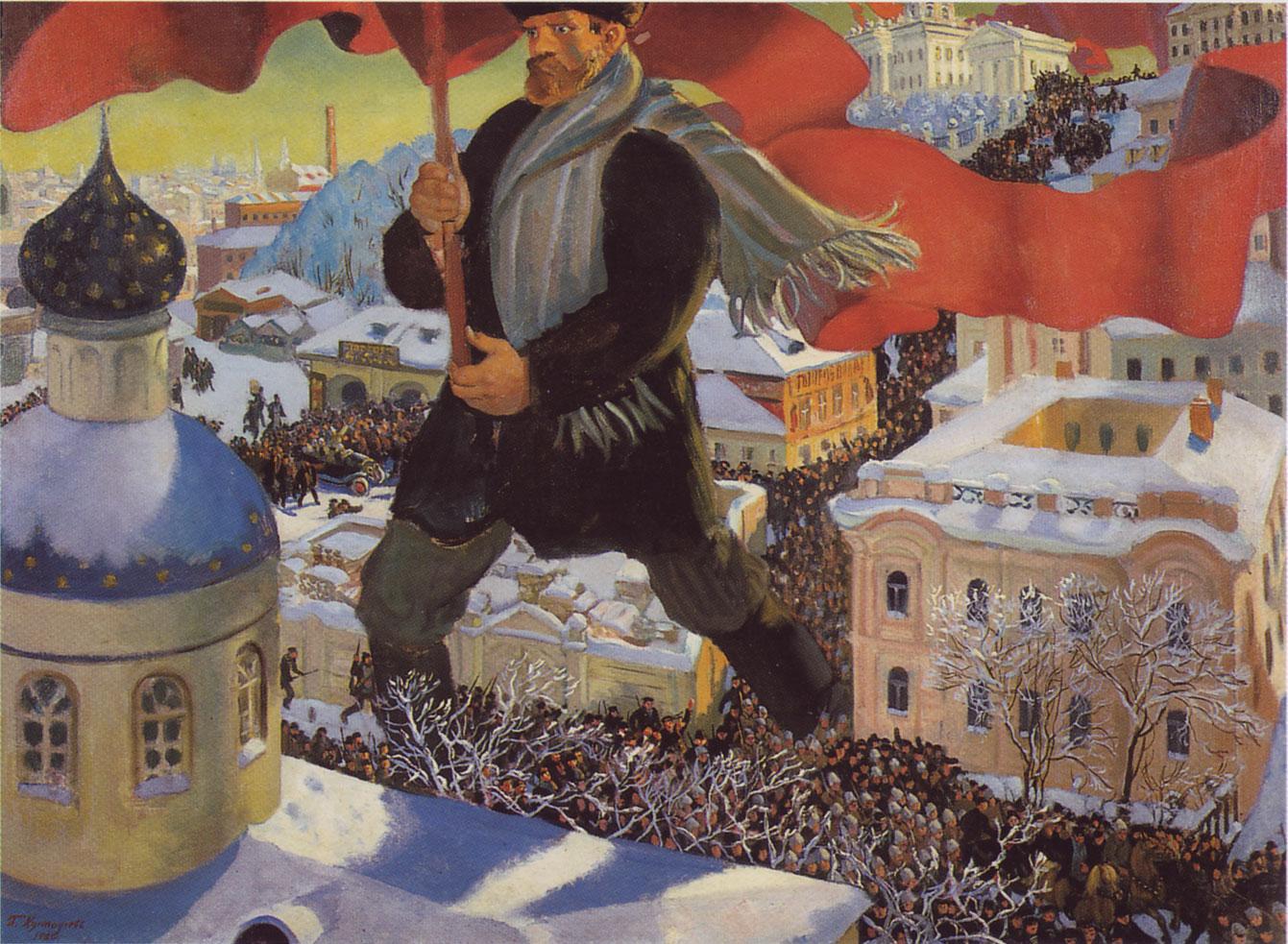 """""""Bolchevique"""", de Boris Kustodiev (1920)"""
