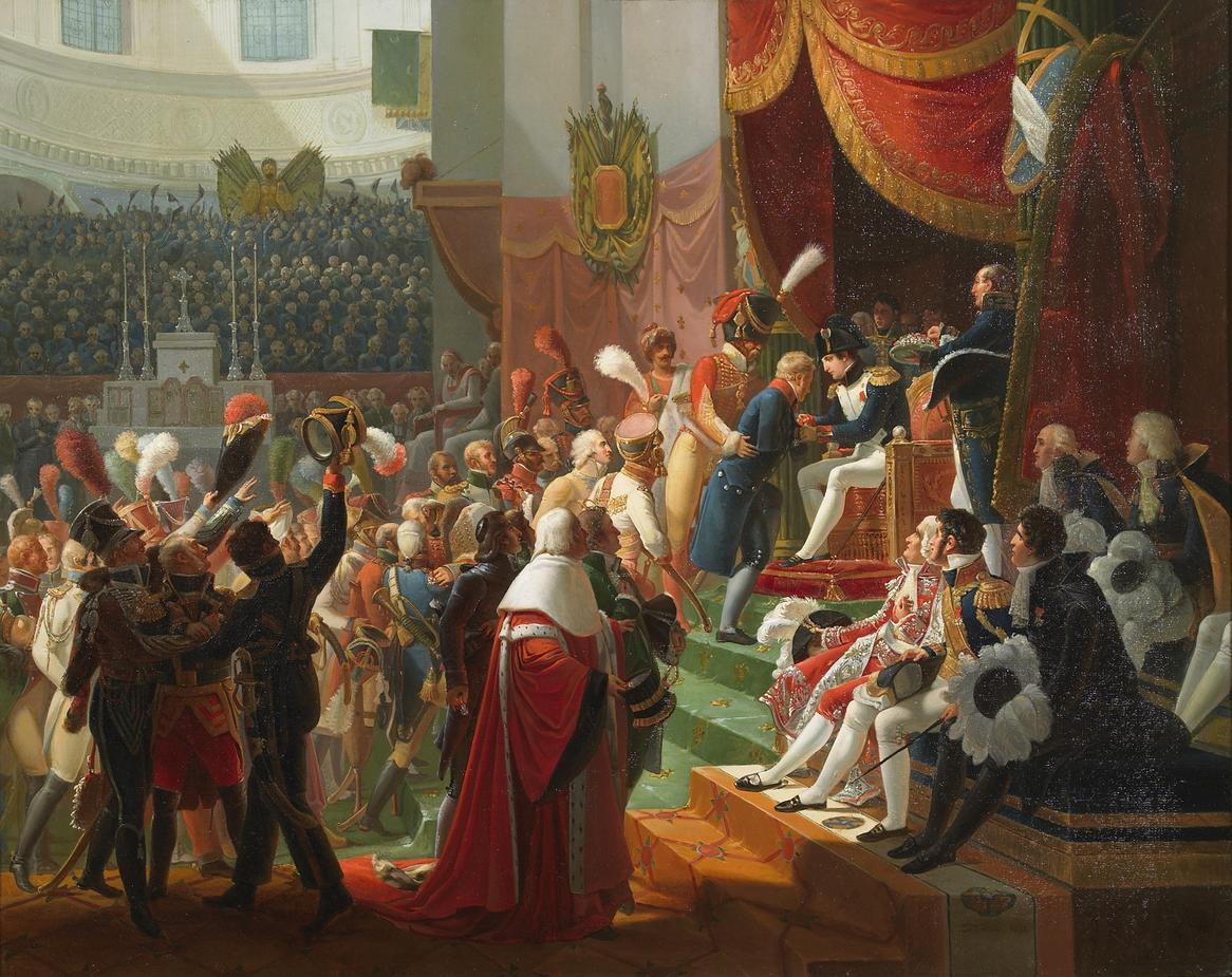 Presentación de la insignia de la Legión de Honor por Napoleón en la Iglesia de Les Invalides