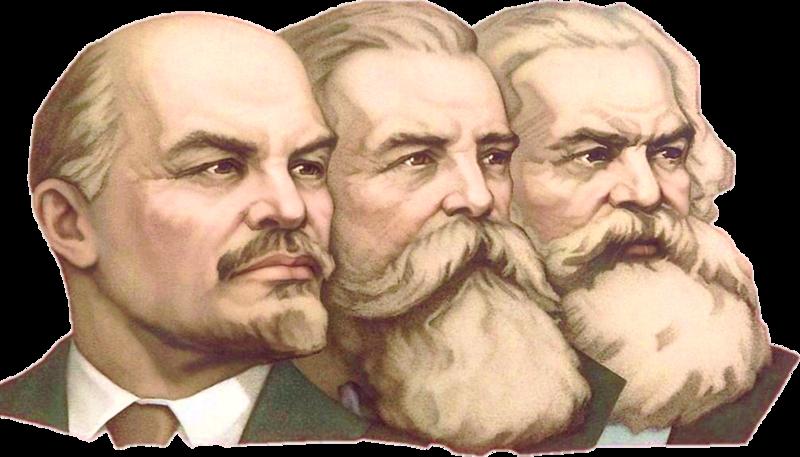 Lenin, Engels y Marx