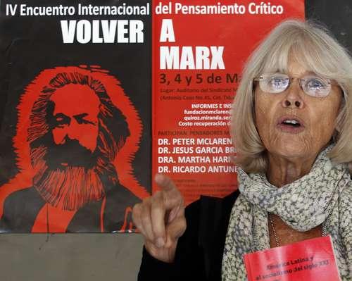 Marta Harnecker fue en sus comienzos una de las ideólogas y defensoras del gobierno bolivariano de Hugo Chávez y Nicolás Maduro