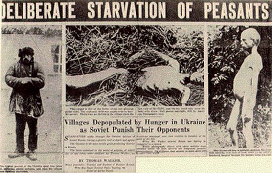 Holodomor o genocidio mediante el hambre de la Rusia comunista contra los ucranianos