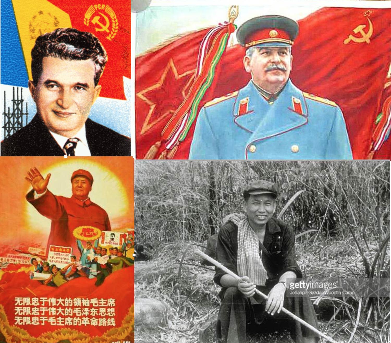 Asesino y dictadores en el poder: Ceaucescu, Stalin, Mao y Pol Pot