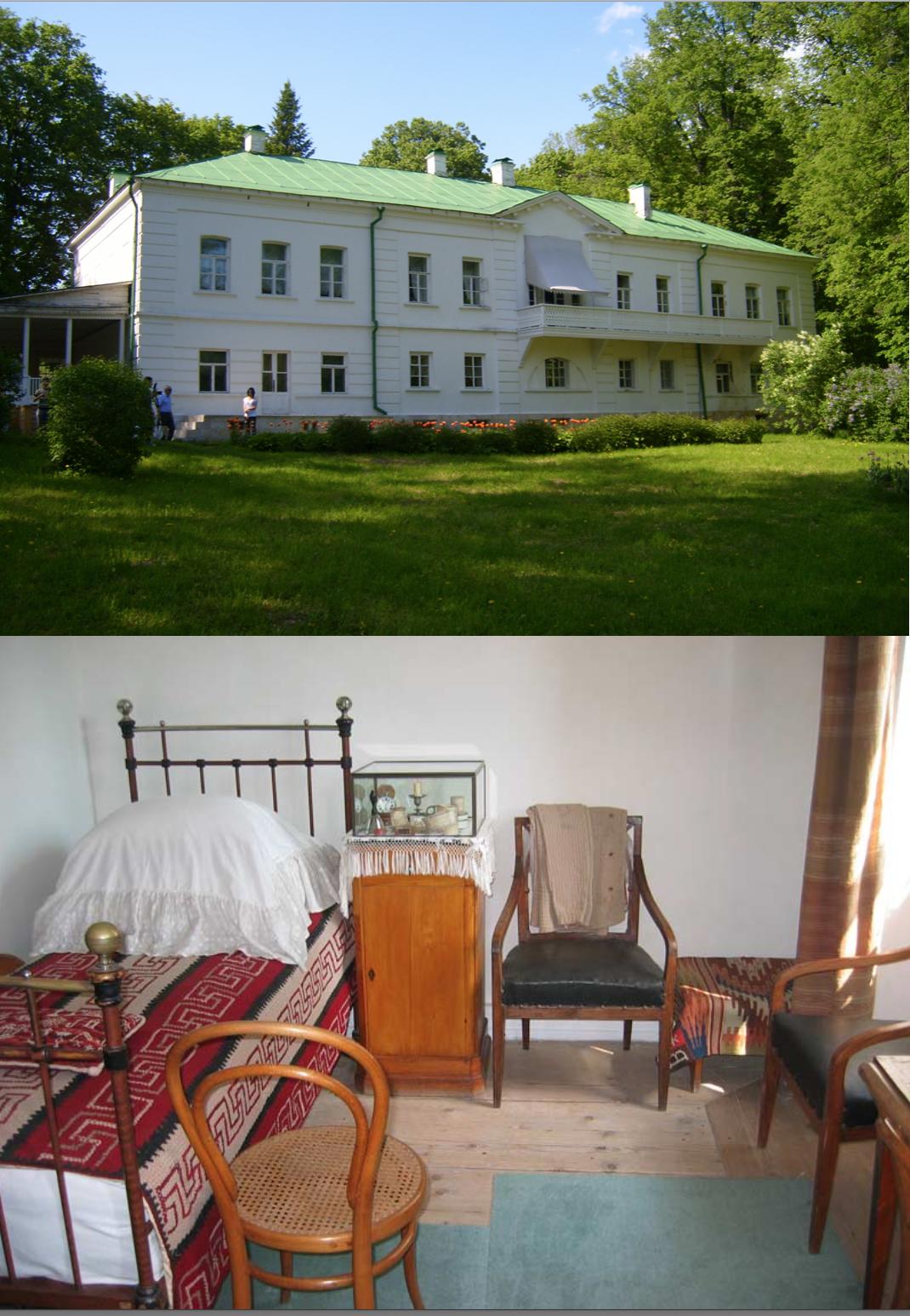 Casa de Tolstói y su pieza (Yásnaya Poliana)