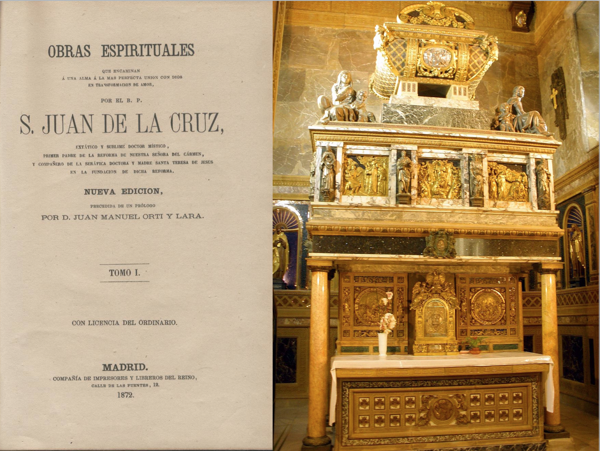 Sepulcro de San Juan de la Cruz en el Convento de los Carmelitas Descalzos (Segovia)