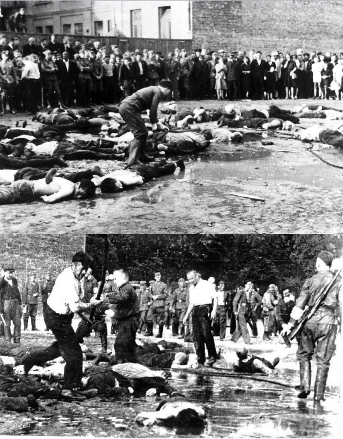 Matanza de judíos en Kaunas (Lituania) por la población civil.