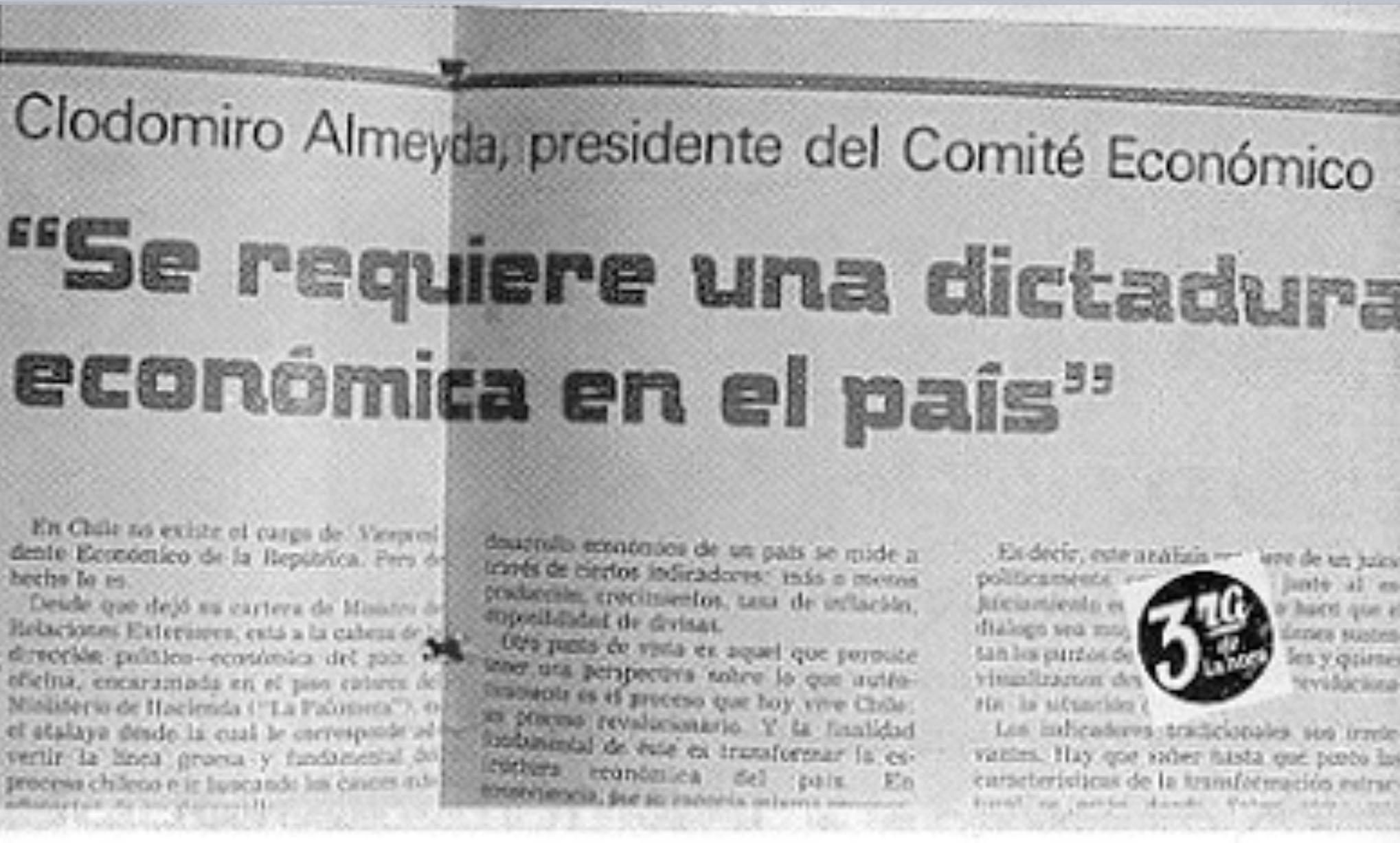 Clodomiro Almeyda fue Secretario General del Partido Socialista