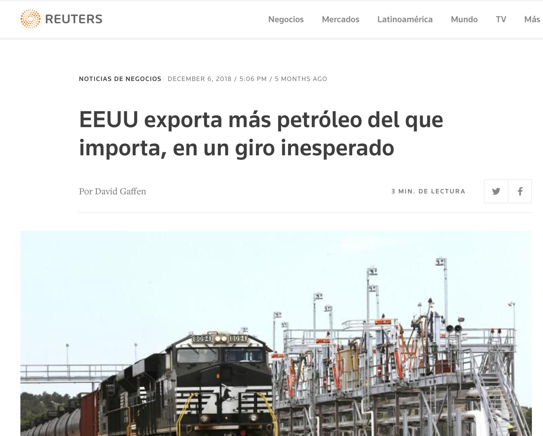 ¿Estados unidos sediento de petróleo extranjero? (2018)