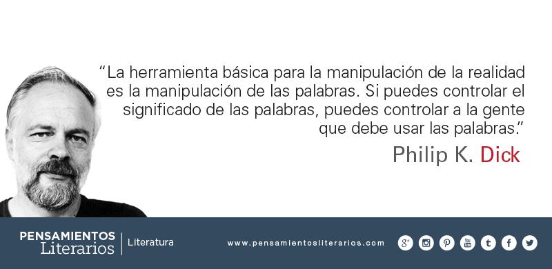 P. K. Dick, influyente escritor de Ciencia Ficción, inspirador de algunas emblemáticas películas como Blade Runner.