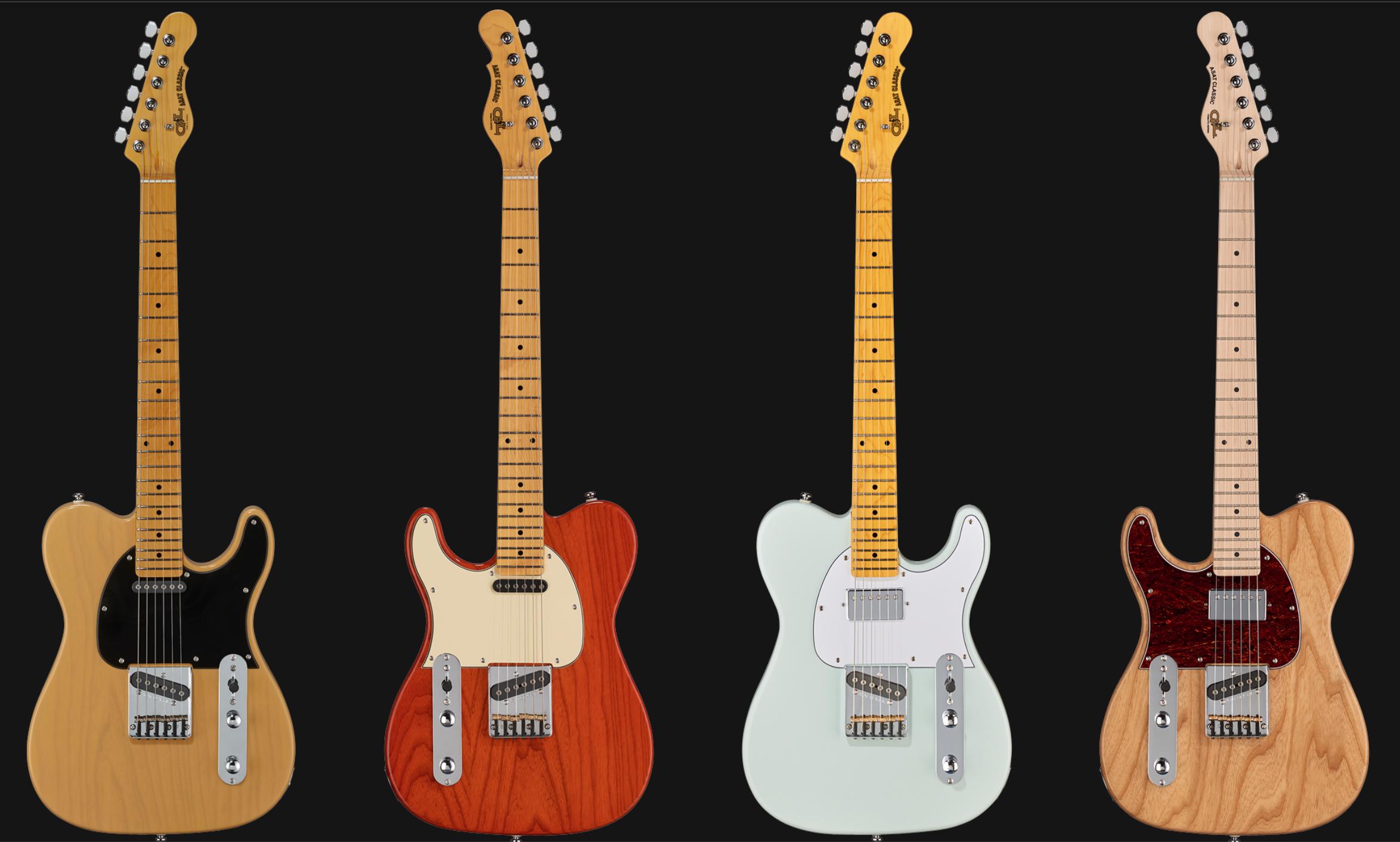 Modelos de la Tribute Series actuales de G&L (obtenido de http://glguitars.com/product-category/tribute-guitars/)