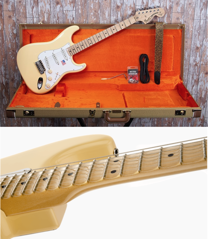"Fender ""Yngwie Malmsteen"" con los trastes escalopados"