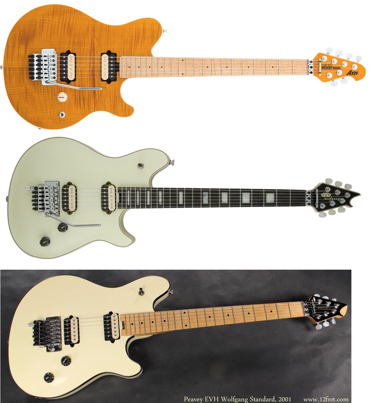 """La línea de Eddie Van Halen en distintas marcas: Music Man """"Axis"""", EVH Wolfgang (de Fender) y la Peavey EVH"""