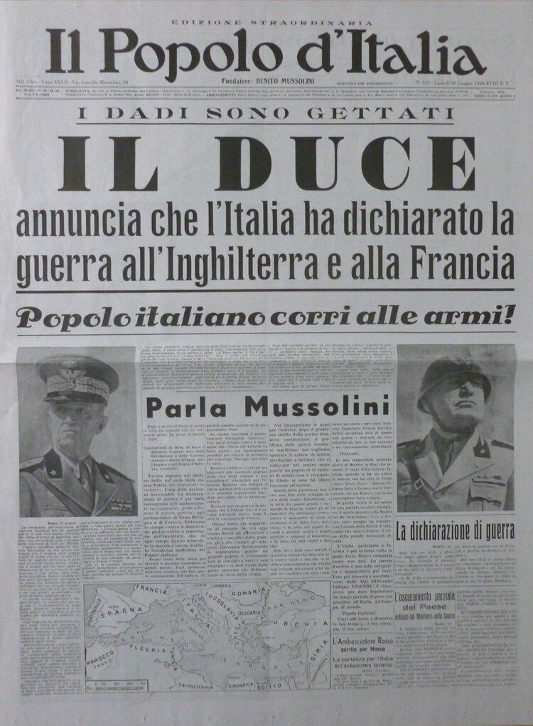 """El """"Pueblo de Italia"""", periódico fundado por Mussolini en 1914"""