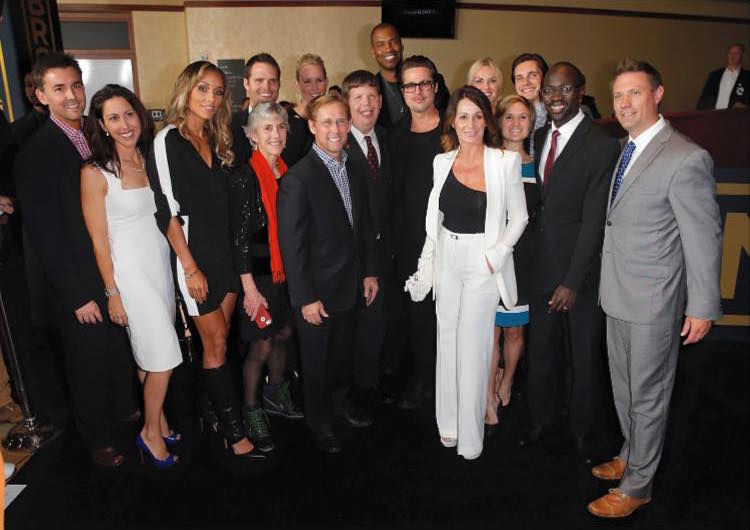 Athletes with Brad Pitt at the Unbroken Hollywood Premiere