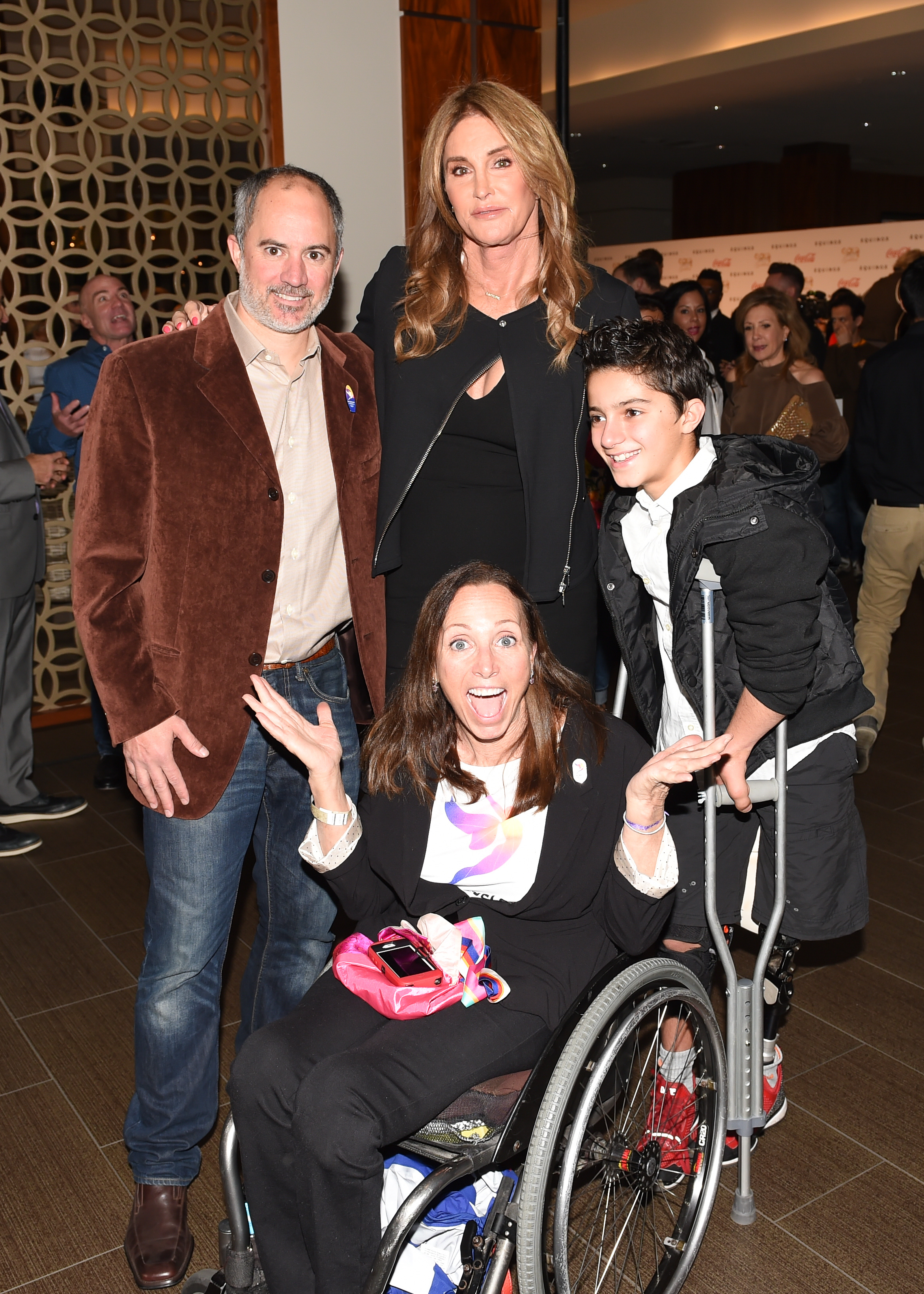 Caitlyn Jenner with Paralympians Candace Cable and Ezra Frech.jpg