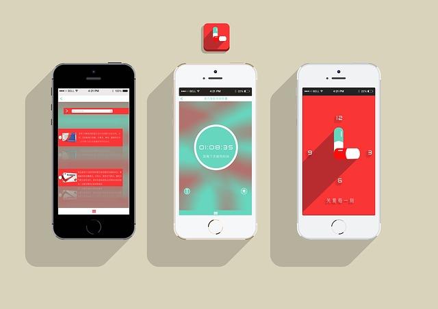 Three mobile phones showing responsive websites