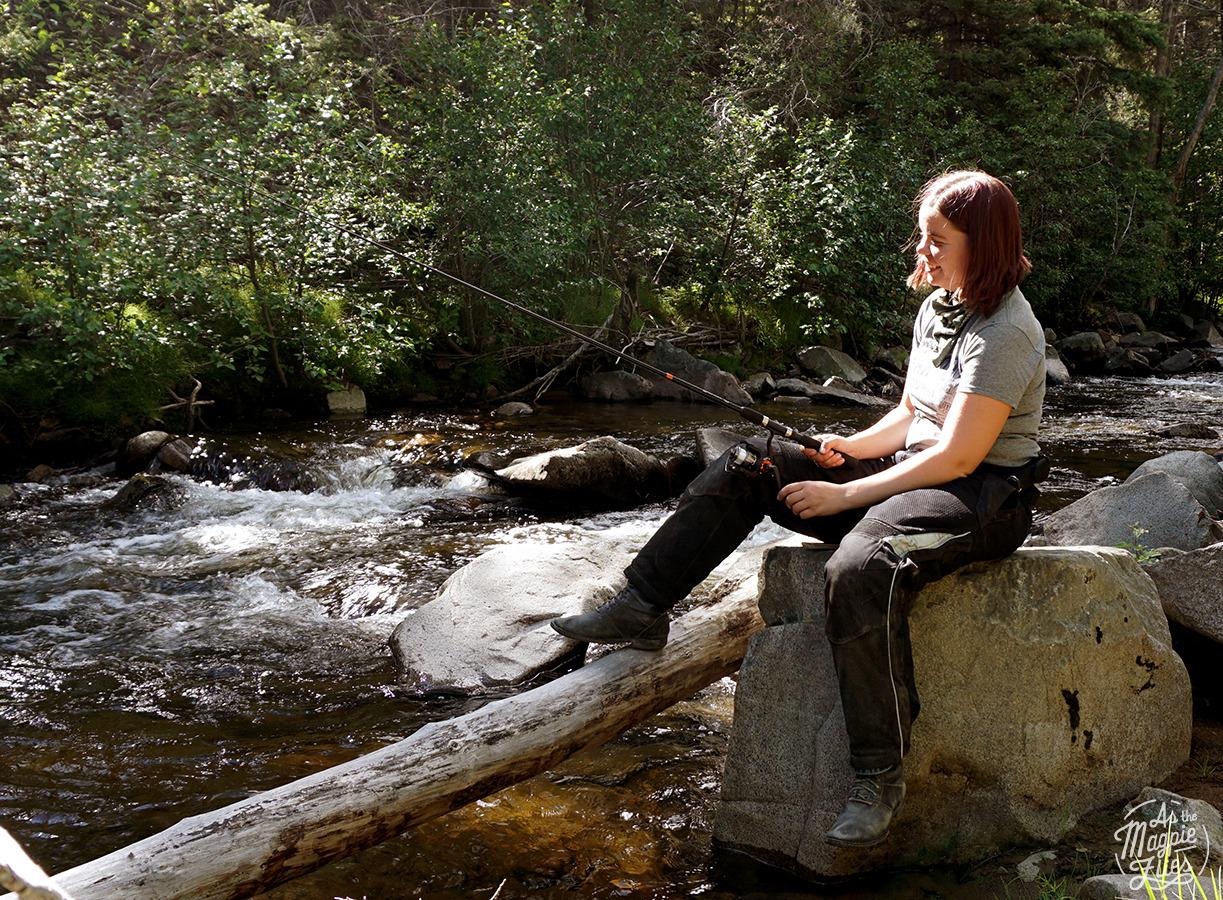 Fishing somewhere outside of Rocker, MT