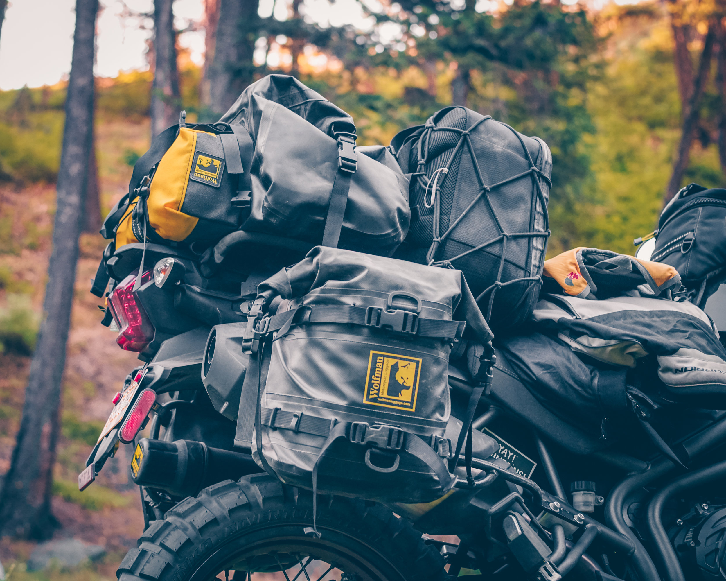Love my Wolfman Luggage Expedition Dry Saddlebags!