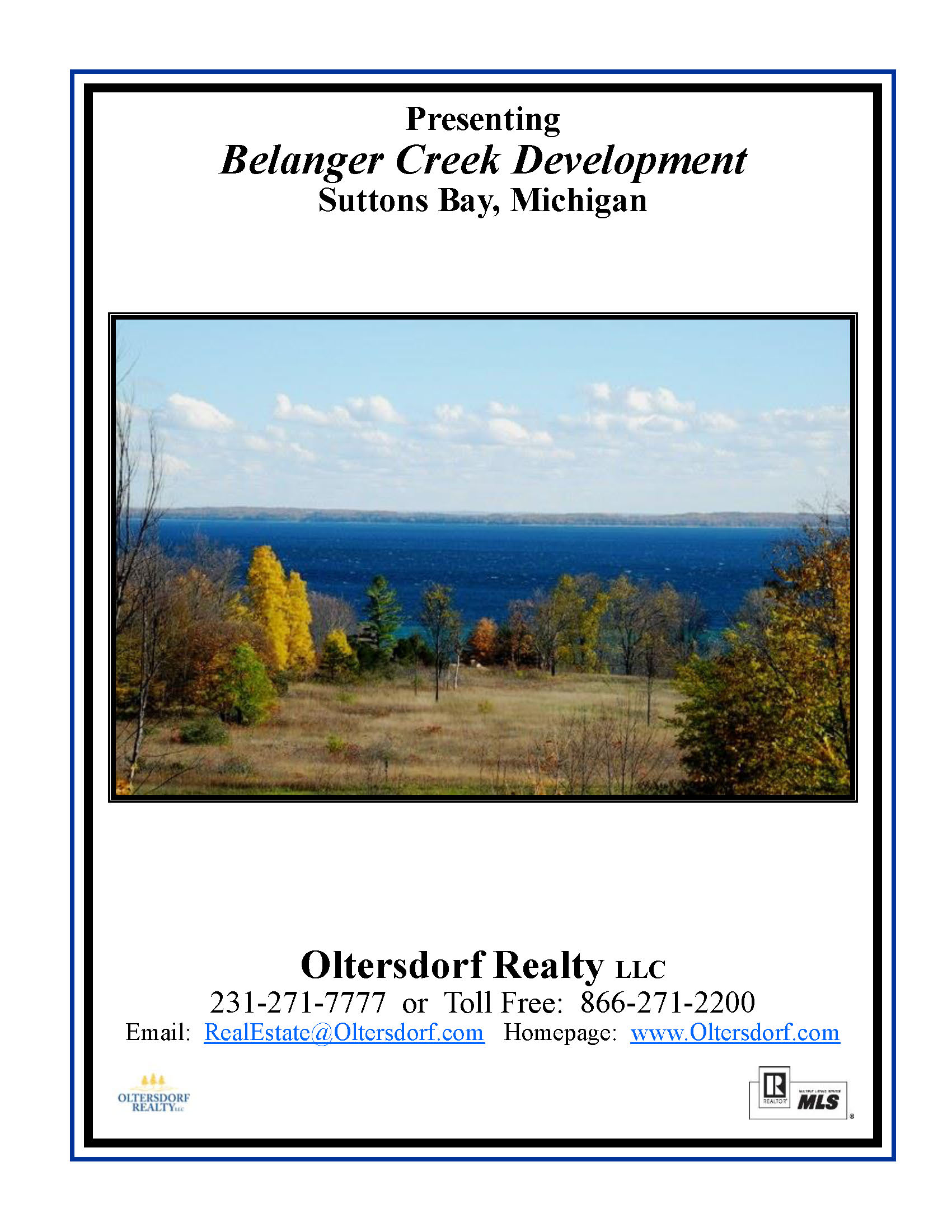 Belanger Creek, Suttons Bay Water View Vacant Land For Sale By Oltersdorf Realty LLC_Page_01.jpg