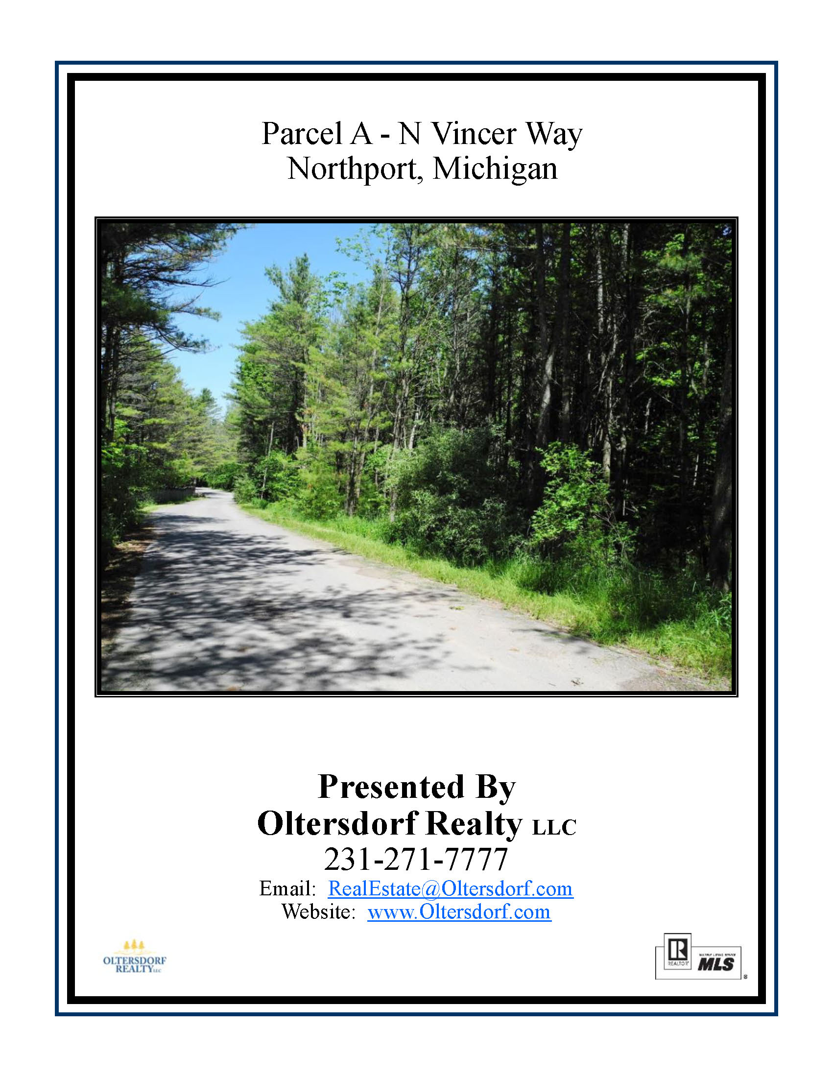 Parcel A, N Vincer Way, Northport, Leelanau County - Vacant Land for Sale by Oltersdorf Realty LLC - Marketing Packet (1).jpg