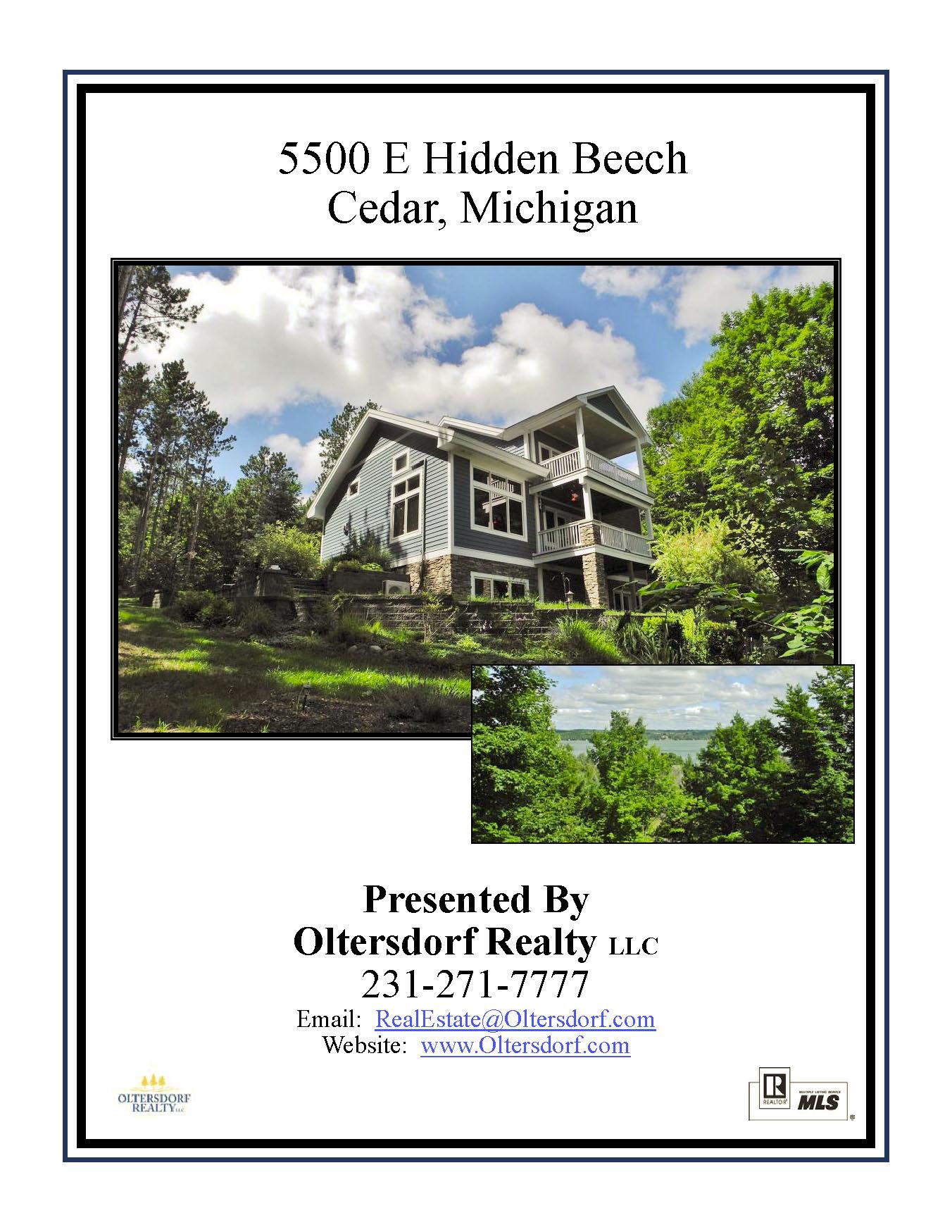 5500 E Hidden Beech, Cedar, MI - For sale by Oltersdorf Realty LLC - Marketing Packet (1).jpg
