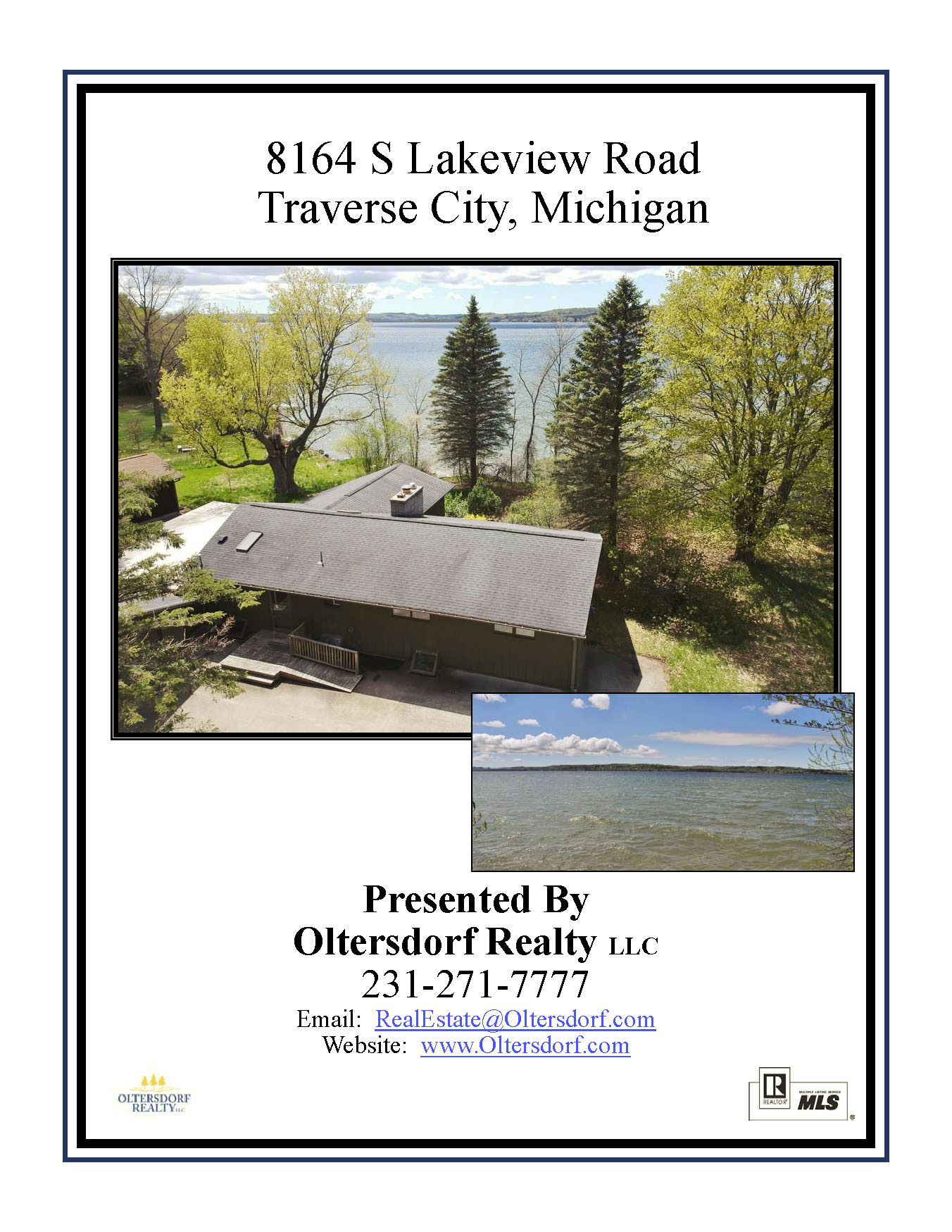 8164 S Lakeview Road, Traverse City, MI – Ranch Home & 100' on Lake Leelanau - For Sale by Oltersdorf Realty LLC - Marketing Packet (1).jpg