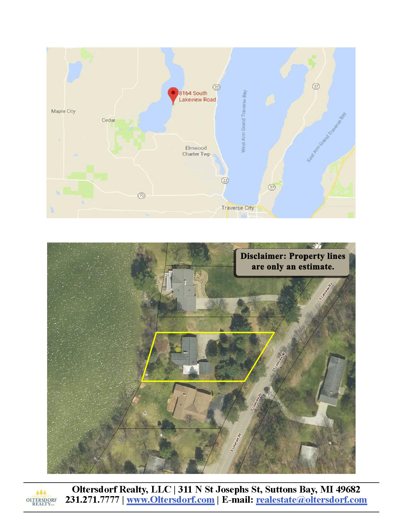 8164 S Lakeview Road, Traverse City, MI – Ranch Home & 100' on Lake Leelanau - For Sale by Oltersdorf Realty LLC - Marketing Packet (9).jpg
