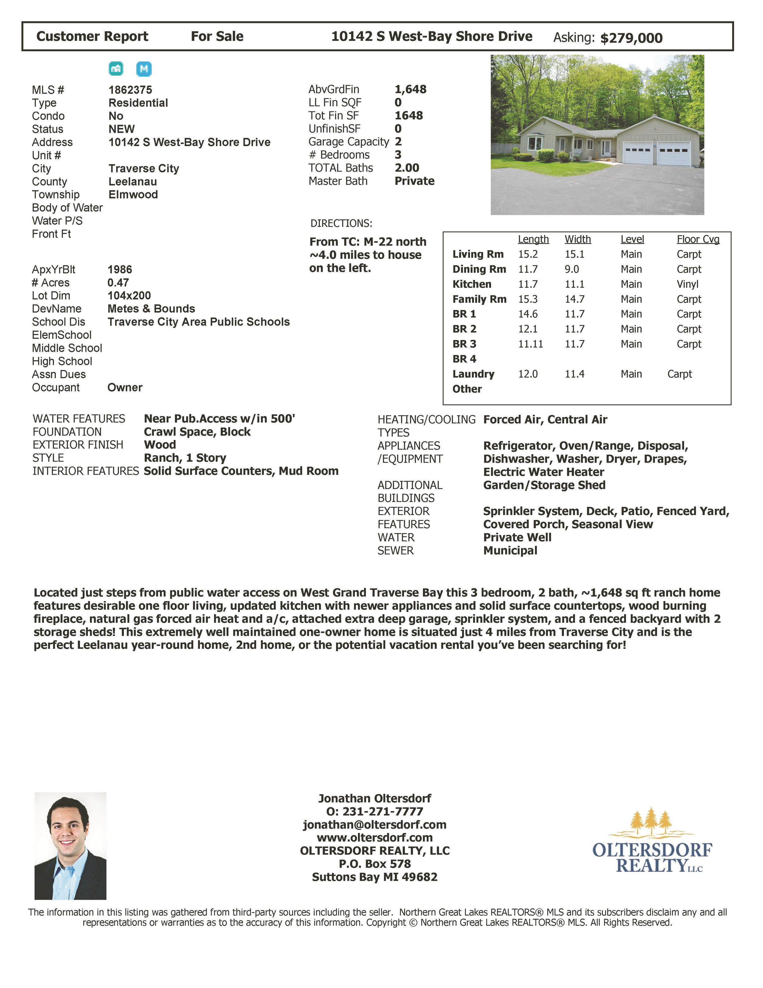 10142 S West Bay Shore Drive, Traverse City, MI - For sale by Oltersdorf Realty LLC - Marketing Packet (8).jpg